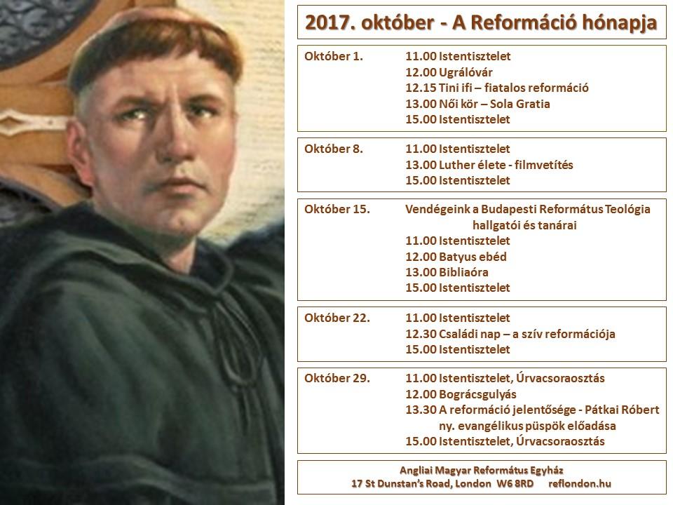Következő istentisztelet október 22-én, vasárnap de. 11 és du. 3 órakor.
