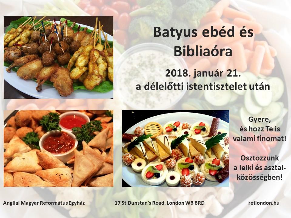 Istentisztelet 2018. január 21-én de. 11h és du. 3h